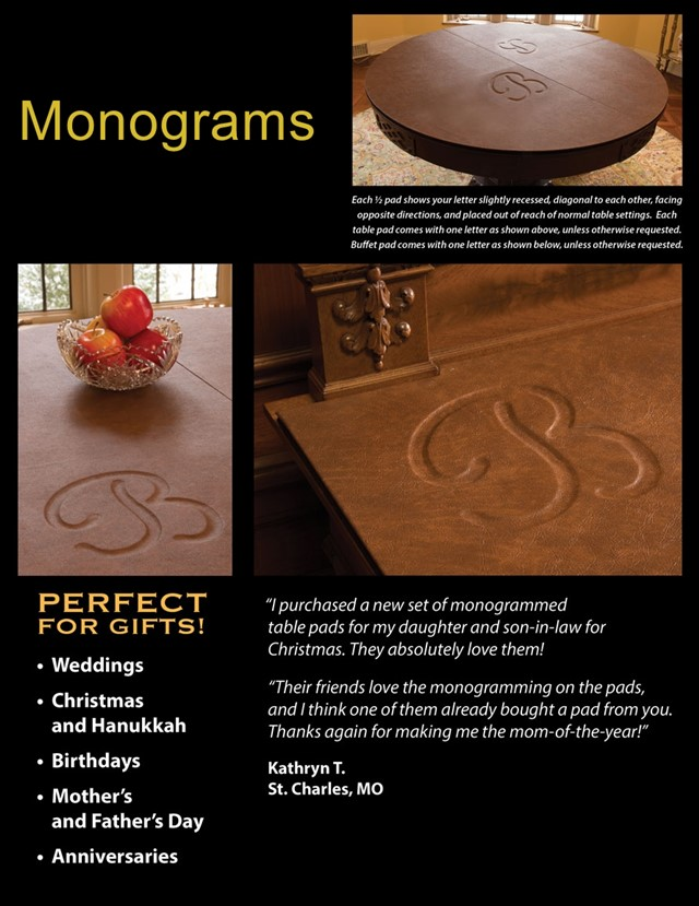 Monograms for your tablepad