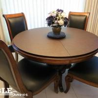 Round Custom Table Pad -- Dark Mocha